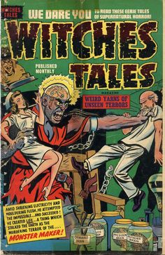 Comic Book Cover For Witches Tales #11