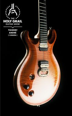Exhibitor at The Holy Grail Guitar Show Thierry André, Canada Music Guitar, Cool Guitar, Playing Guitar, Acoustic Guitar, Guitar Room, Lefty Guitars, Bass Guitars, Making Musical Instruments, Guitar Collection