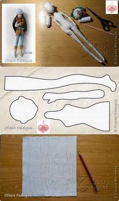 Mimin Куклы: куклы Mold подросток и учебник Олеся Falatyuk Doll Sewing Patterns, Sewing Dolls, Doll Clothes Patterns, Fabric Doll Pattern, Doll Crafts, Diy Doll, Fabric Toys, Fabric Crafts, Doll Tutorial