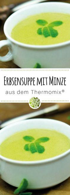 Hast Du schon unsere Erbsen-Suppe mit Minze aus dem Thermomix probiert? Hier gibt es das Rezept!