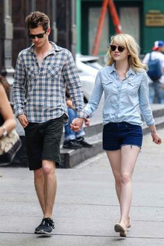 Switch Up Washes — We know you have a pretty well-stocked wardrobe of denim separates, so don't let them only appear one at a time. Mix up your washes for an all-denim duo-toned look, just like Emma Stone has mastered here. Think of it as the summertime version of your Canadian tuxedo. Plus — bonus tip — don't be too eager to throw your newly cut dark denim in the washing machine. A teeny flash of raw hem keeps a cutoff outfit looking sleek.