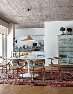 Salle à manger Kim Verbist Appartement seventies à Bruxelles