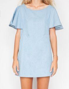 Blue crush denim dress