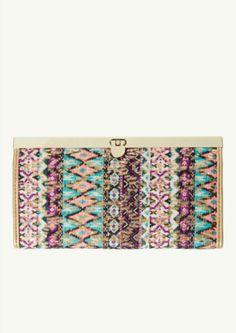 Tribal Sequined Snap Wallet | Wallets & Wristlets | rue21 @dommie dom Hillan Bainter