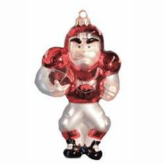 Razorbacks Football Player Ornament #razorbacks