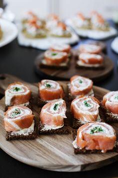 rollos de salmon