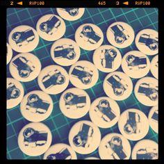 Camera Button Badges - Koolbadges