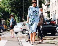 Patricia Manfield  Street style during Milan Fashion Week