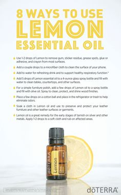 Lemon, one of the most versatile oils.