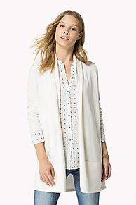 9e0c419b The Wool Cotton Blend Wrap Cardigan is the seasons highlight: from the  latest Tommy Hilfiger