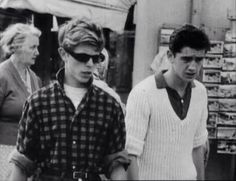 David Bowie and his half brother, Terry Burns.