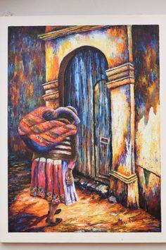 Home decor, wall decor, oil painting, Peruvian art de TinoArt en Etsy