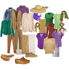 Travel Wardrobe -- Browns, created by joy-weese-moll