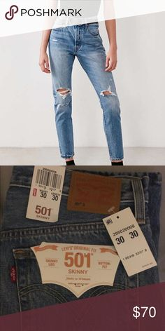 Urban Outfitters Levi's 501 Skinny brand new never worn •30/30 •skinny Urban Outfitters Jeans Skinny