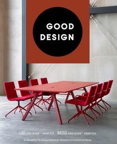 The internationally recognized GOOD DESIGN™ Award for Basso 2016 and Lab 2015