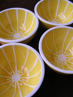 Bowls Shafford Citrus Hand Painted Vintage Set of 4