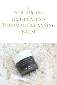 Omorovicza Thermal Cleansing Balm review by Simply Stine.  A cleansing balm that features Hungarian Moor Mud, Sweet Almond Oil and Orange Blossom Oil. Excellent for sensitive skin types/normal skin.