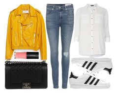 """""""street style"""" by sisaez ❤ liked on Polyvore featuring Zara, Monki, Chanel, rag & bone, Dorothy Perkins and adidas Originals"""