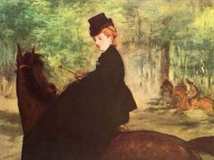 Paintings by manet   manet the horsewoman painting - edouard manet the horsewoman paintings ...