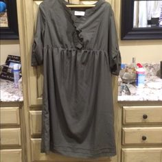Very cute maternity army green dress Perfect maternity staple Old Navy Dresses