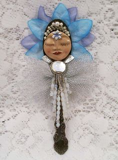 Upcycle Altered Art Vintage Silver Plated Spoon Doll by NoRulesArt, $22.95