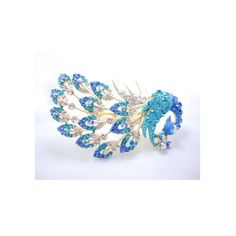 Fashion elegant peacock handmade diamond hair comb,hair jewelry,hair tiara YD1791,blue *** To view further for this item, visit the image link.
