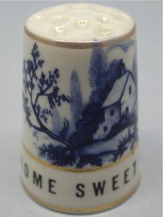 Home Sweet Home. 1989. Thimble Craft By Shirley. Inglaterra. Thimble-Dedal-Fingerhut.
