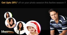 Get Up to 20% off On Your Photo Session at MeriYaadein Photo Studios!*Offer valid from 18th Nov 2013 -31st Dec 2013 - Monday to Thursday on purchases above Rs. 4990 + Tax.Not applicable on holidays that fall on weekdays & this discount cannot be clubbed with any other offers.