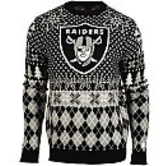 Oakland Raiders Nfl Patches Ugly Crewneck Sweater Raiders