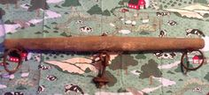vintage Antique Oxen Horse Cow Yoke Primitive Cast Iron Farm Barn Single Tree #NaivePrimitive