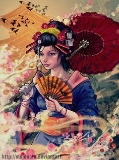 25 Beautiful Examples of Geisha Artworks -