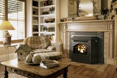 A pellet-burning fireplace insert makes an open fireplace more efficient and convenient, and lets you burn renewable fuel. Here are the advantages, disadvantages, and costs.