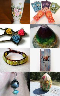 The Colors of Spring by Susan and Tracey on Etsy--Pinned with TreasuryPin.com...includes my heart...
