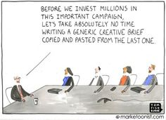 """""""creative brief"""" cartoon from Tom. The Marketing, Digital Marketing, Remember Why You Started, Instructional Design, Creativity And Innovation, Business Entrepreneur, Funny Cartoons, A Funny, Advertising"""