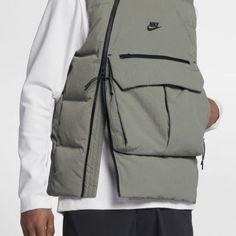 Nike / Nike Sportswear / Tech Pack Down-Fill / Dark Stucco/Black/Black / Vest / 2018 Nike Tech, Nike Sportswear, Sport Chic, Mode Cyberpunk, Sport Fashion, Mens Fashion, Tech Pack, Black Vest, Look Cool