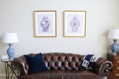 Above the couch diptych  in our Georgetown frame | Via @SummerWind41490