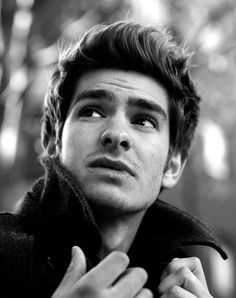 Andrew Garfield. I love his face! I'd totally hate Emma Stone if I didn't already love her & think that they are ridiculously cute together!