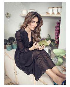 #kareenakapoor in our zzz silk midi dress with slip :) | @filmfare