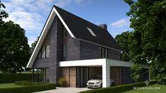 Villa in Tynaarlo - WoonSubliem Modern Villa Design, Facade Design, Exterior Design, Modern Exterior, Modern Minimalist, Old Houses, Modern Architecture, Building A House, New Homes