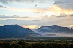 Evening sets in after the first day of the #FlagstaffFire in Tues, June 26, 2012. See the slurry bomber on the left.