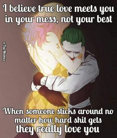 He has been there when it felt like i was all alone and like i didn't matter. Im so glad ur mine babe! He's my Joker and im his Harley! Harly Quinn Quotes, Harley And Joker Love, My Sun And Stars, Really Love You, You Dont Love Me, Joker Quotes, Badass Quotes, Thats The Way, Couple