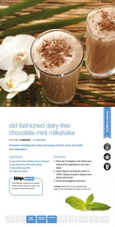 Try our dairy free version of the old fashion milkshake using the Ninja Ultima!