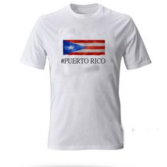 Puerto Rico Flag T-SHIRT Adult UNISEX Price: 15.50 #shirt Funny Shirt Sayings, Shirts With Sayings, Funny Shirts, Cute Graphic Tees, Graphic Shirts, Workout Shirts, Puerto Rico, How To Look Better, Flag