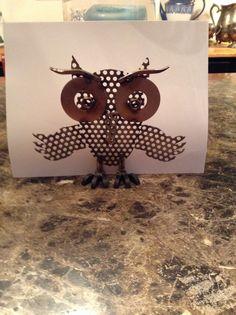 George made this owl, he's so cute! Love him! He's so creative!