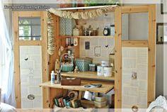 ikea cabinet turned craft center