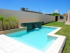 The Small Pool Patio Diaries 138 - Pecansthomedecor Small Backyard Pools, Backyard Pool Designs, Small Pools, Swimming Pools Backyard, Swimming Pool Designs, Backyard Landscaping, Moderne Pools, Mini Pool, Outdoor Spaces