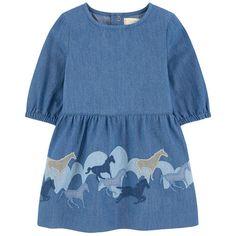 Stella McCartney Kids - Embroidered chambray dress - 192121