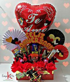 Balloon Gift, Ideas Para, Balloons, Basket, Halloween, Birthday, Sweet, Projects, Diy
