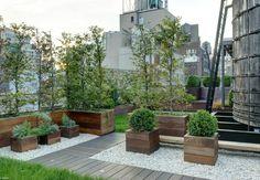 Roof terrace - I love this roof terrace apart from the horrid, grave-like, white gravel.