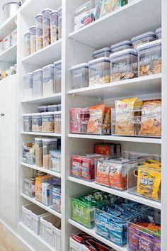 Kitchen Organization Pantry, Diy Kitchen Storage, Pantry Storage, Home Organization, Pantry Ideas, Organized Kitchen, Pantry Room, Pantry Shelving, Open Shelving